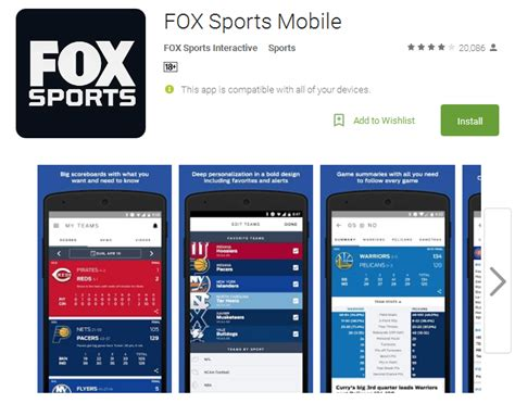 fox sports app for android best 12 free sports apps for android andy tips