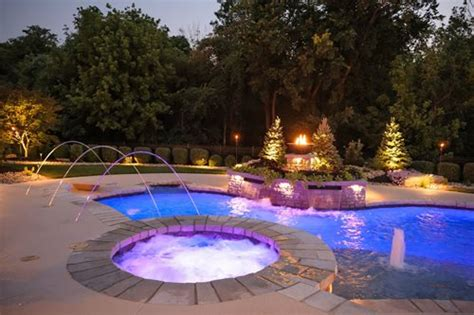 Pool Landscape Lighting Ideas High Tech Pool Landscaping Network