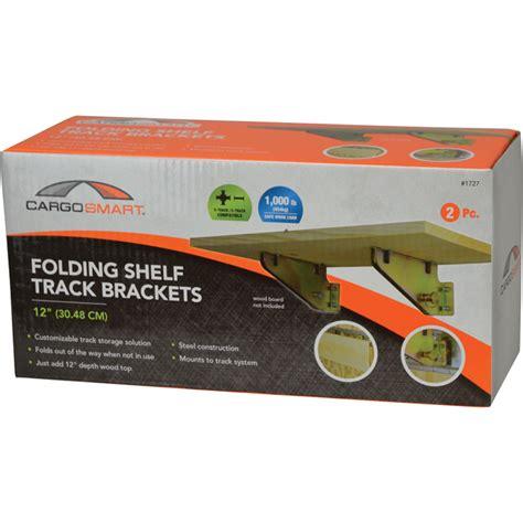 cargosmart folding shelf track brackets for e track and