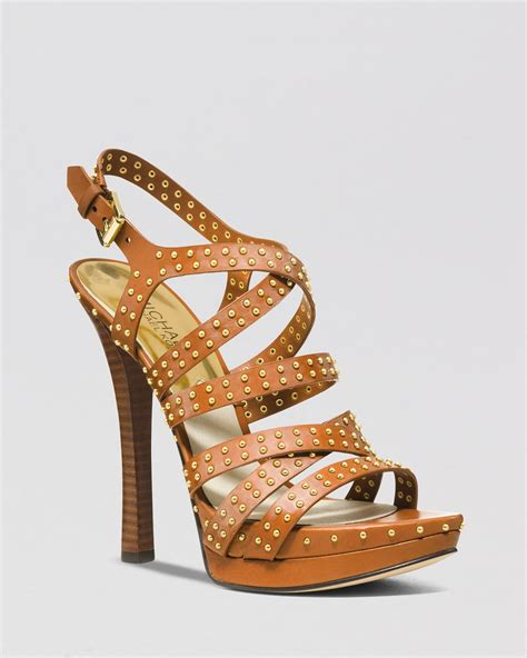michael kors high heel sandals lyst michael michael kors open toe platform sandals