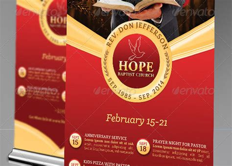 Wedding Anniversary Banner Template by Pastor Anniversary Pop Up Banner Template Godserv Market