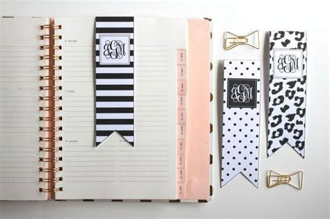 printable planner bookmark 16 easy and quick homemade bookmark ideas tip junkie