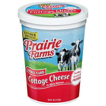 cottage cheese curd prairie farms small curd cottage cheese 5 lb walmart