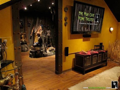 man home decor custom man cave horror themed home theater movie prop museum tom spina designs 187 tom spina