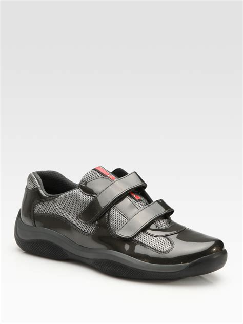 sneakers with velcro straps prada velcro sneakers in gray for anthracite