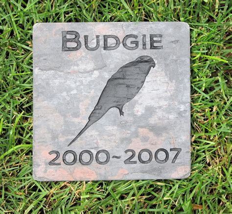 personalized parakeet bird memorial stone grave marker 6 x 6