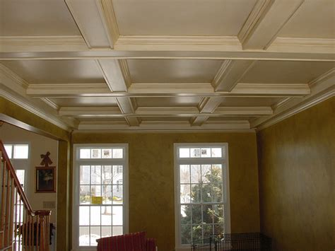 Painted Coffered Ceiling Living Room Coffered Ceiling After Flickr Photo