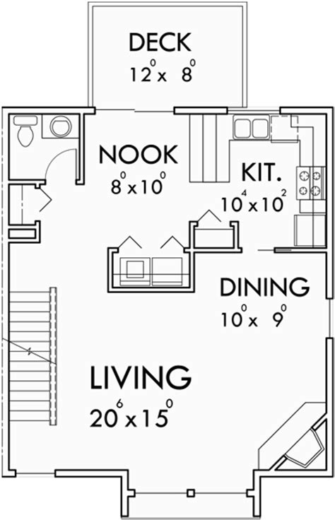 triplex house plans townhouse with 2 car garage triplex 3 bedroom 2 car garage side to side sloping lot