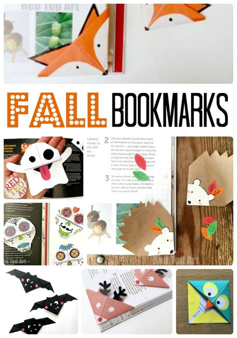 Bookmark Themes   fall corner bookmark ideas for children red ted art s blog