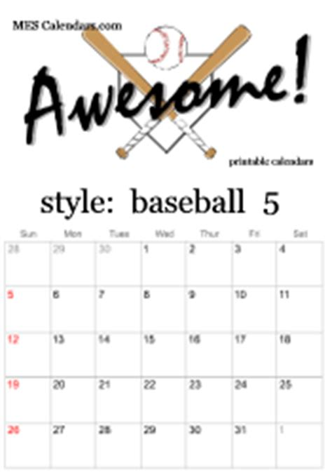 sports calendar template printable baseball calendars customizable sports