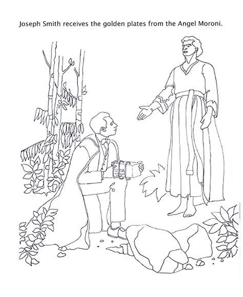 book of mormon coloring pages happy clean living primary 5 lesson 9