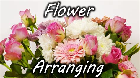 Flower Arranging | flower arranging trick youtube