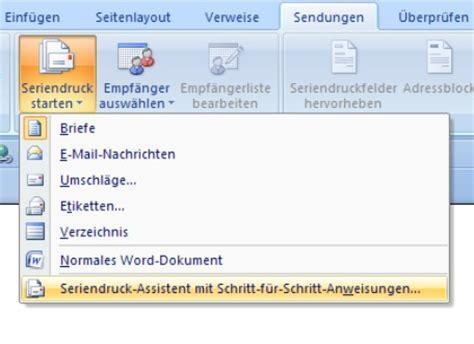 Brief In Word Erstellen Serienbriefe Mit Word Erstellen Office Lernen