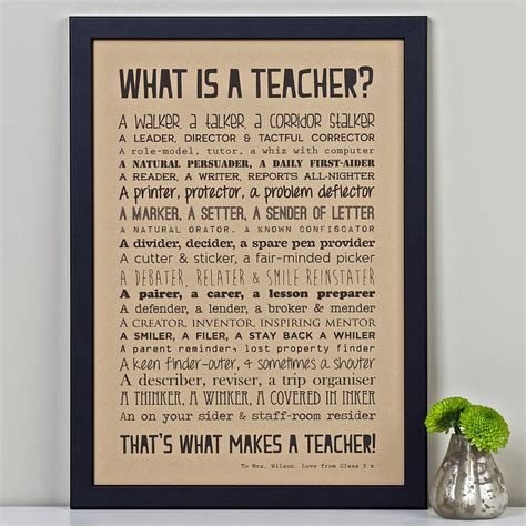 what is thee best product to give short pixie a chunky piecey look personalised teacher print with teacher poem kraft by