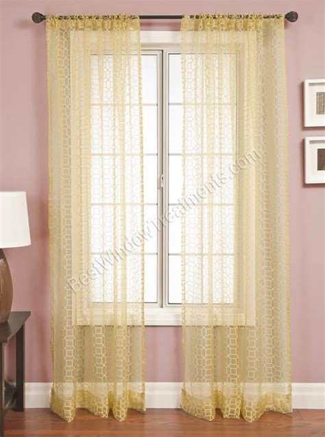 honeycomb curtains palazzo honeycomb sheer curtain panel available in 11 colors