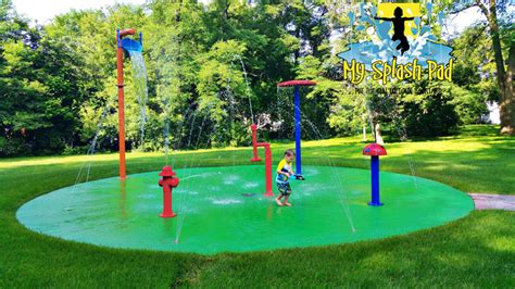 backyard water play carpentersville illinois backyard home splashed installed