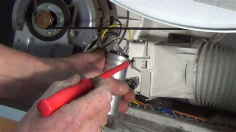 replacing capacitors on heat tumble dryer is not turning how to find the fault and replace motor capacitor