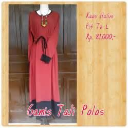 Gamis Untuk Wanita Dewasa gamis tali polos merah murah all size wanita dewasa baju