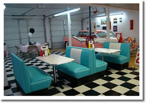 Kitchen Bar Table Ideas retro garage bar diner 1950 s diner booths bar stools