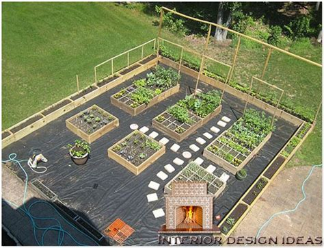 homeofficedecoration urban vegetable garden layout