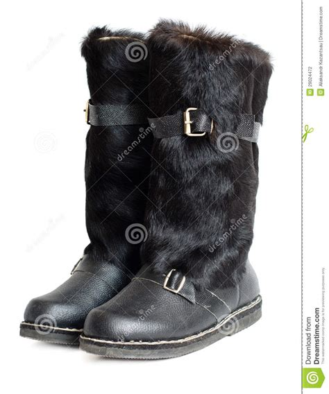 black mens mukluk boots stock photography image 29024472