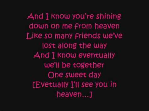 day lyrics in one sweet day lyrics