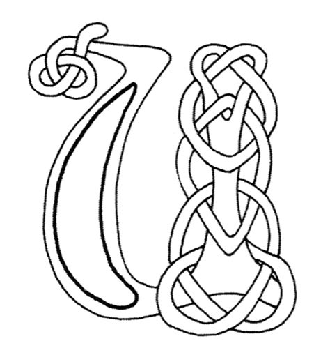 celtic letter coloring page free coloring pages of celtic letter c