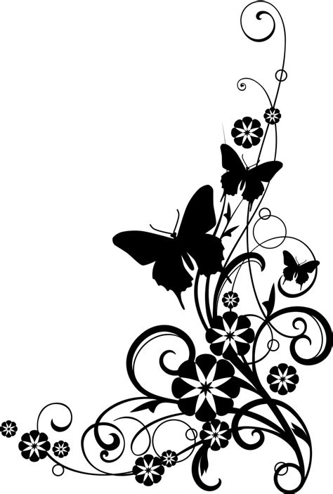 imagenes vintage black and white image black and white flowers clipart free large images