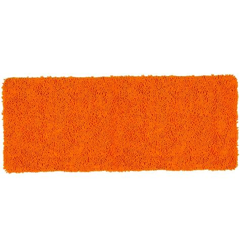 Orange Bathroom Rug Lavish Home Shag Orange 24 In X 60 In Memory Foam Bath Mat 67 19 O The Home Depot