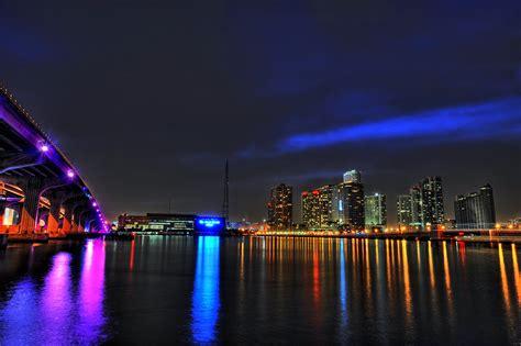 miami city skyline at night miami skyline wallpaper 84464