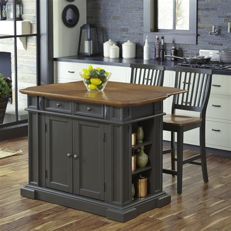 island stools for kitchen americana kitchen island with 2 stools homestyles