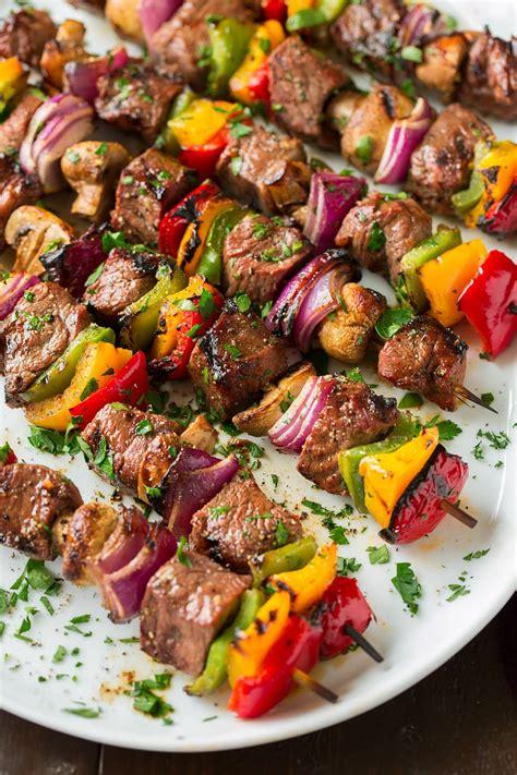 Beef Kebab Size Medium steak kebabs cooking