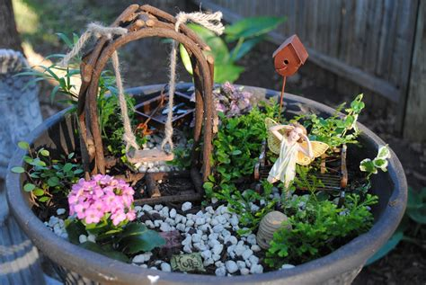 Garden Nymph A Sassy Scrapper Miniature Garden Part 4 Of 4