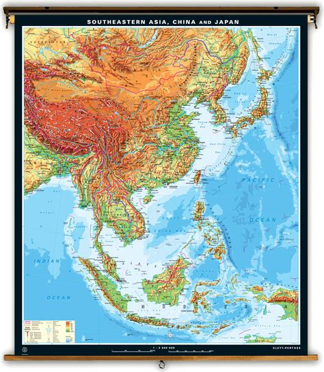 se asia physical map klett perthes large physical map of southeastern