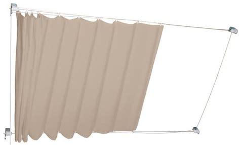 obi markisen angebote cmi seilspann markise beige braun 270 cm x 140 cm obi