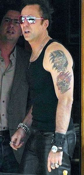 nicolas cage tattoos photos pics pictures of his tattoos