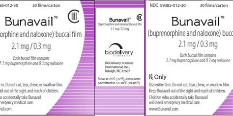 Buprenorphine Detox Schedule by Is Bunavail Like Suboxone