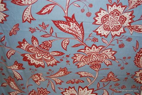 red and white curtain fabric wb31 bold block print style red and white flowers branches
