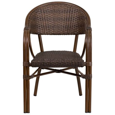 aluminum bamboo patio chairs brown rattan chair with bamboo look aluminum frame