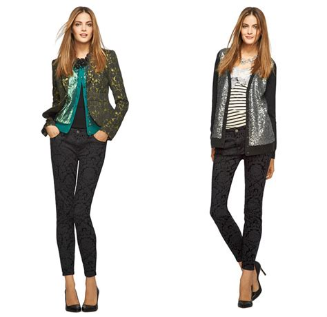 printed jeans denim trends for fall 2013 shop l wren scott for banana republic 2013 holiday denim
