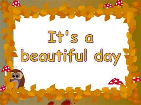 beautiful day testo it s a beautiful day lyrics