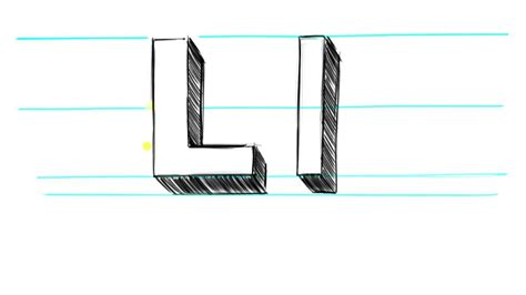 3d L by How To Draw 3d Letters L Uppercase L And Lowercase L In