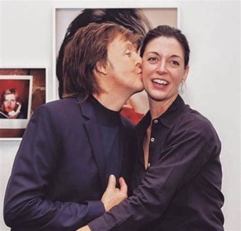Paul Mccartney Stepping Out With A New Friend by Paul Mccartney With His Mccartney Paul