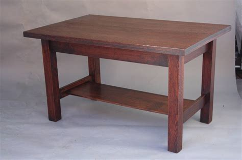 oak library table 1910 arts and crafts oak library table at 1stdibs