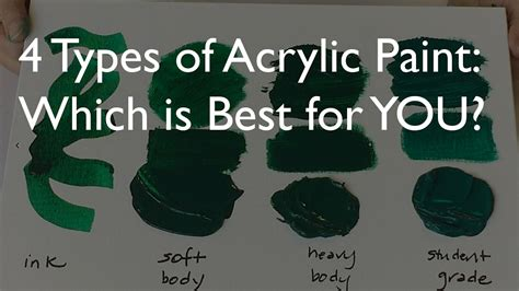 difference between and acrylic paint on canvas 4 types of acrylic paint which is best for you