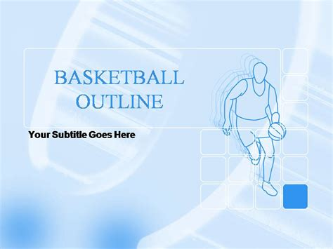 basketball powerpoint template basketball outline templates for powerpoint presentations