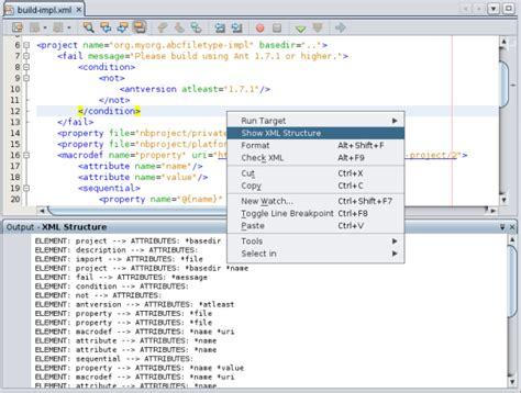 xml netbeans tutorial netbeans netbeans xml editor extension module tutorial for