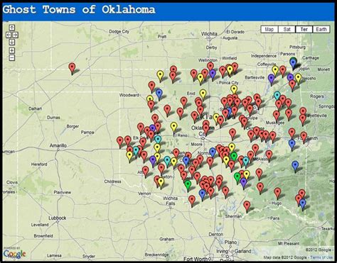 texas ghost towns map ghost towns of oklahoma grid shtf