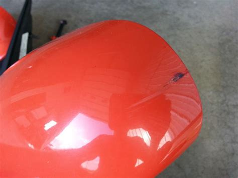 sell  mustang cobra folding mirrors svt  competition orange motorcycle