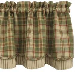 Country Plaid Kitchen Curtains Country Curtains Bj S Country Charm Green Plaid Shower Curtain Park Designs Kitchens